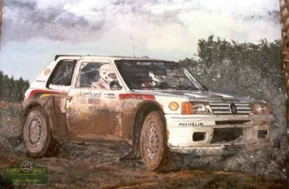205 rally car painting