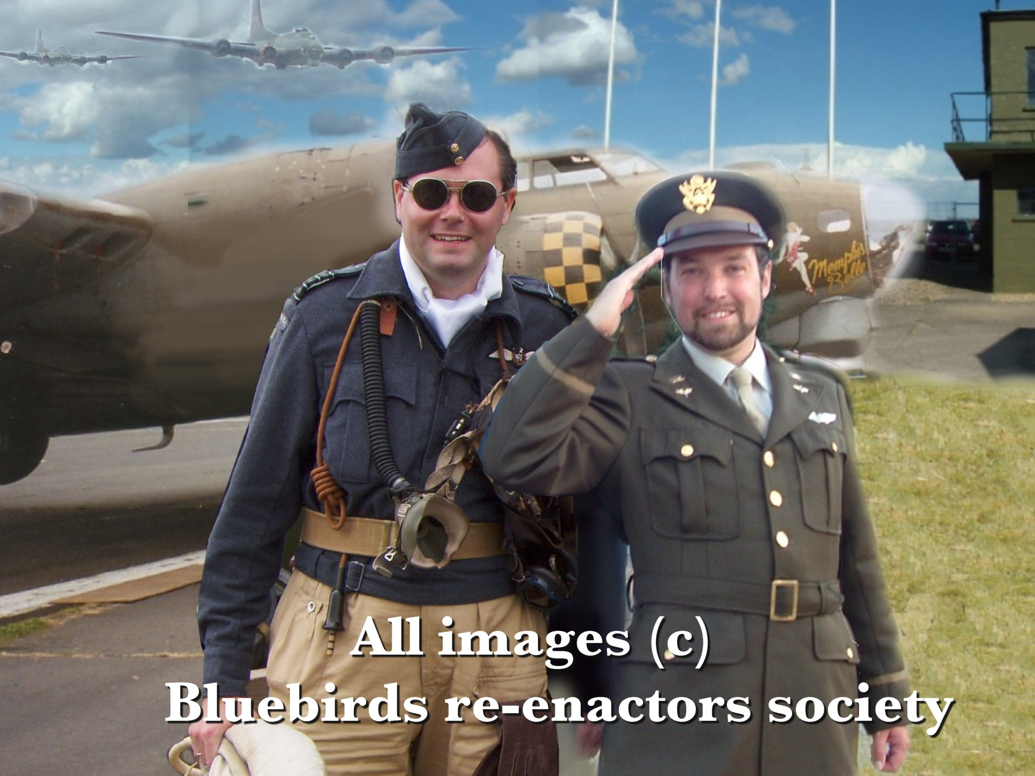 Military Style with Martyn in RAF uniform and Steve in USAAF 8th Airforce uniform